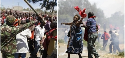 Fearless Maasai men armed with arrows engage police over 12 acre Lang'ata land