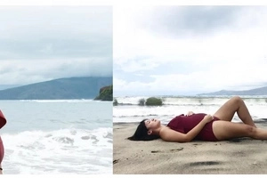 Camille Prats flaunted her bump at the beach! Excited for her princess!