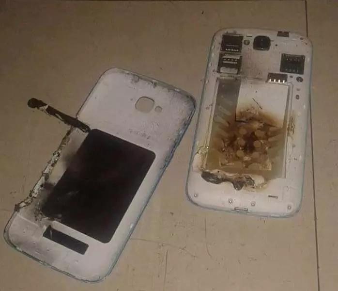 Netizen captures exploding smartphone