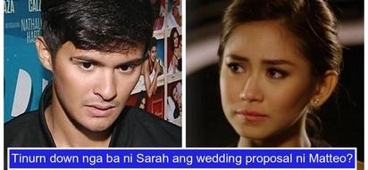 Binusted ba siya? Matteo Guidicelli answers rumor about Sarah Geronimo saying 'no' to his wedding proposal