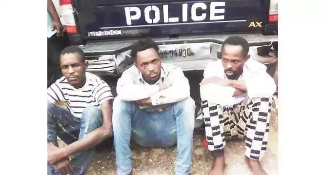 Shocking: Police caught three men having sex with a 17-year-old girl!