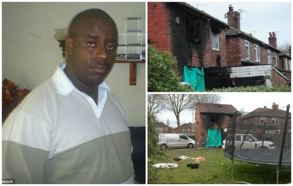 46-year-old man rescues two children from a burning house by catching them as they jumped from a window (photos, video)