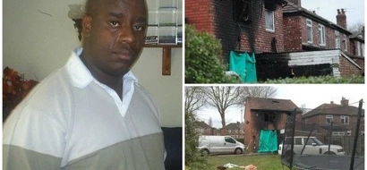 Man, 46, rescues his neighbor's two children from a burning house by CATCHING them as they jumped from a window
