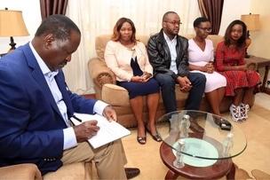 Raila visits home of late Kitui West MP Francis Nyenze