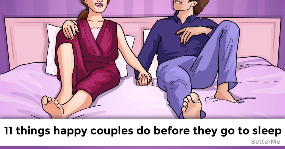 Happy couples do these 11 things before they go to sleep
