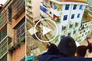 Husband saves suicidal wife from jumping off building by grabbing her ponytail