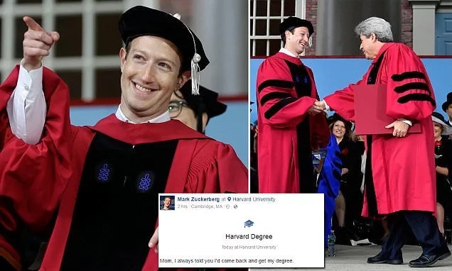 12 years later, Mark Zuckerberg receives honorary degree from HARVARD (photos)