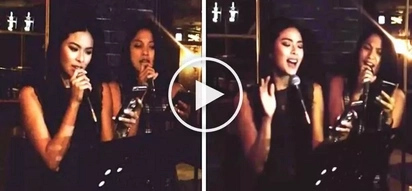 Maxine Medina & Ariella Arida perform epic cover of 'Tadhana' by Up Dharma Down at Makati restaurant