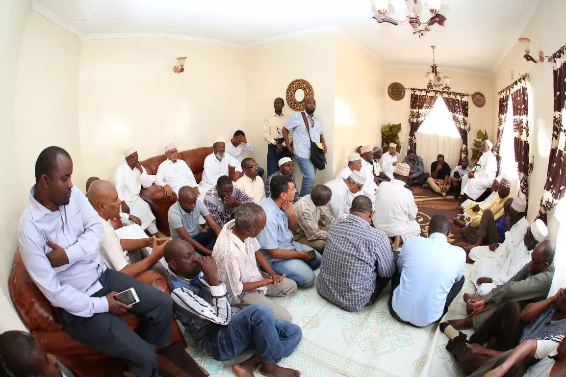 Hassan Joho and other ODM dignitaries visit KTN's Jamal Gadaffi at his home