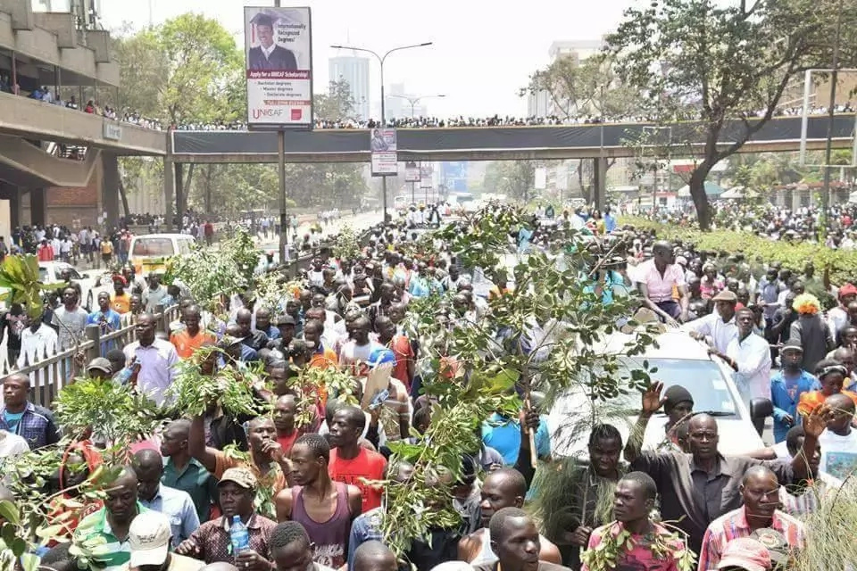 Opposition protesters teargassed by Kenya police in 3 cities