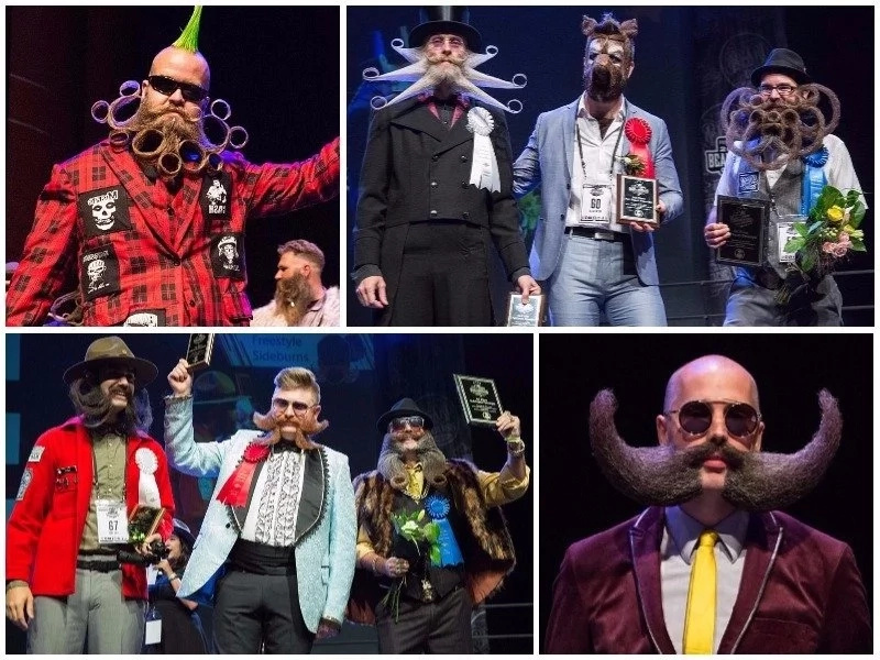 Mustache competition! Winners of 2017 World Beard and Mustache Championships revealed