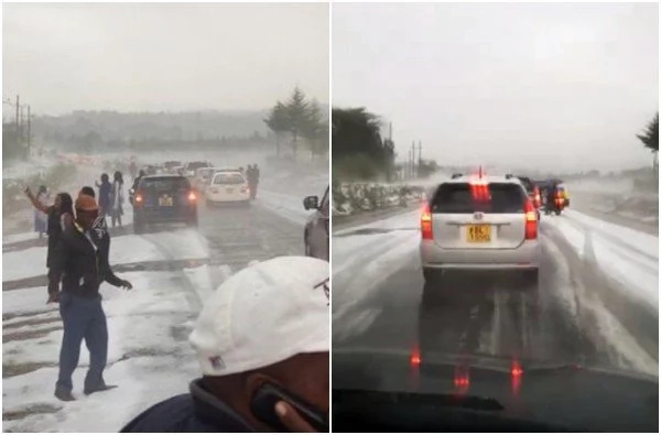 Amazement as 'snow' falls in Kenya (photos, video)