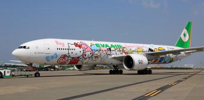 Conoce el avión de Hello Kitty