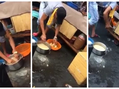 You might never eat street food again after watching these disturbing videos of a Pinoy vendor doing something shocking to his products!
