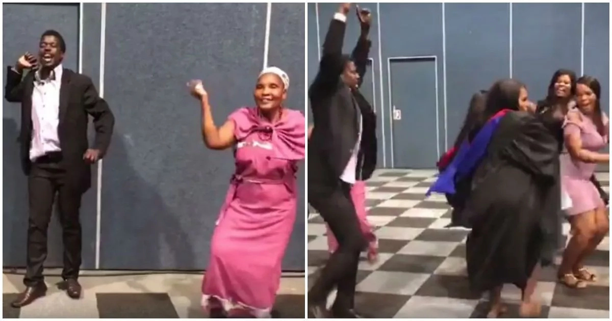 See this amazing video with African family who dancing at a graduation will make your day (photos, video)