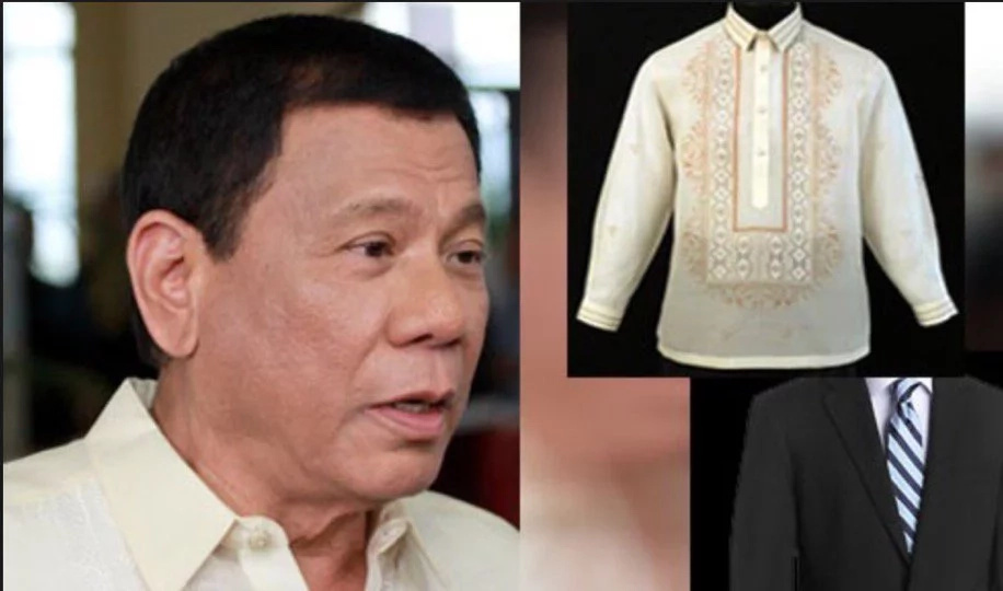 Duterte's tailors start preparing designs for his barong