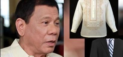 Duterte's tailors start preparing designs for his barong