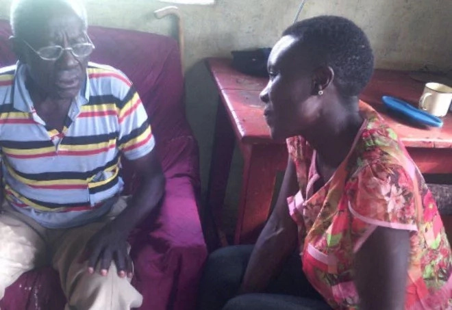 Angel! Meet Kenyan lady, 38, whose heart beats for the elderly people in Uganda (photo)