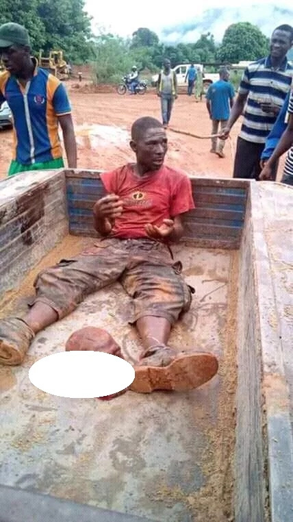 Man caught with a human head, was delivering it to a witchdoctor