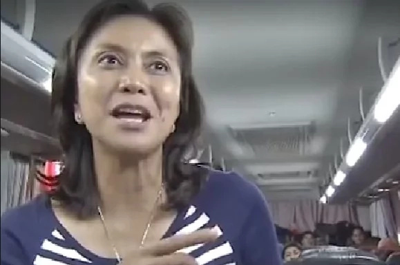 Leni takes bus for inauguration party at Naga