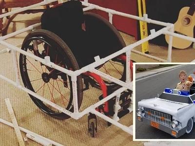 Asombroso padre convierte la silla de ruedas de su hijo en el increbile carro de los 'cazafantasmas'