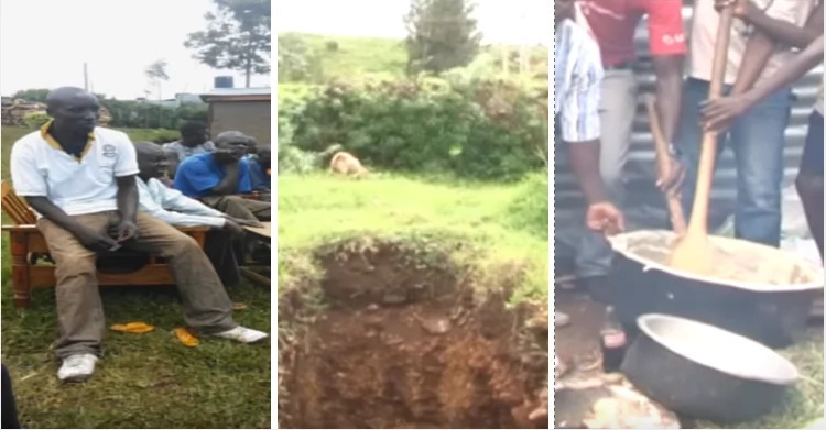 The family digs grave for their 'dead' son... then something strange happens at a bar nearby (video)