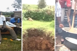 Migori family digs grave for their 'dead' son... then something strange happens at a bar nearby (video)