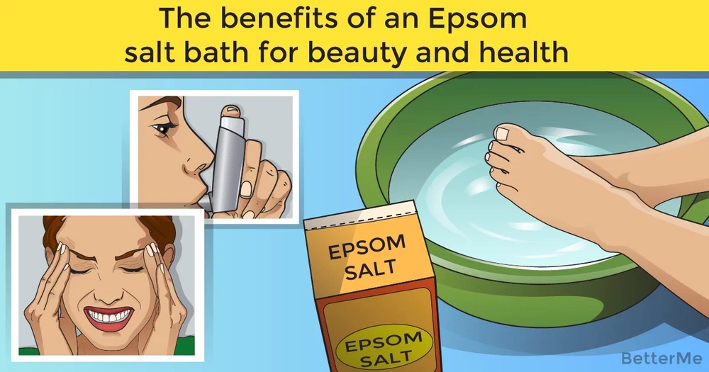 The benefits of an Epsom salt bath for beauty and health