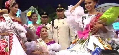 Awkward! Runner-up snatches crown from pageant winner!