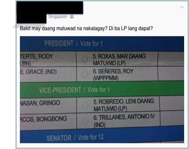 EXCLUSIVE: Odd ballots? 'Daang Matuwid' affixed to Mar-Leni names