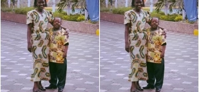 This Kenyan woman says she is happy to be married to her 'small' disabled husband (photo)