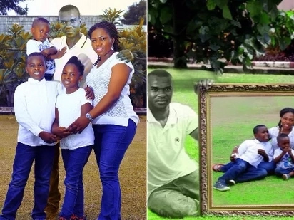 Woman photoshops her husband who died 996 days ago on family pictures to celebrate his birthday