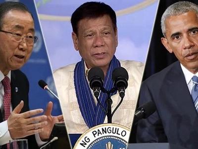 Duterte kept far apart from Obama at ASEAN gala dinner
