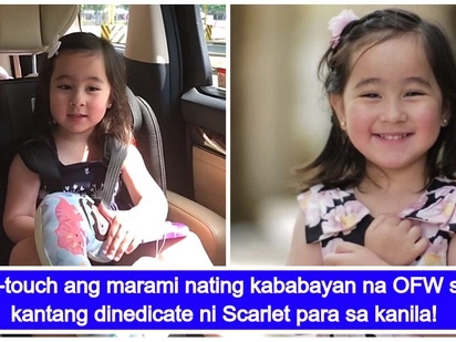 Super sweet na bata! Scarlet Snow Belo dedicates a song to all our OFWs in the Middle East