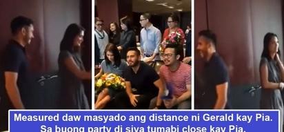 Na 'awkward' daw sila sa isa't isa? Netizens pinpoint Gerald Anderson's 'awkwardness' towards Pia Wurtzbach during thanksgiving party