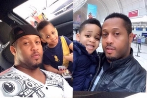 Nigerian actor Mike Ezuruonye has the cutest son and these photos prove it
