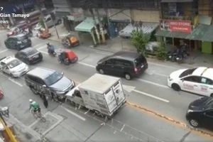 WATCH: Montero bullies a delivery van in the road