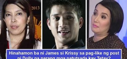 Hinahamon uli si Krissy? James Yap 'likes' Dolly Anne Carvajal's post about not bad-mouthing her ex-husband