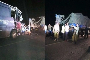 Modern Coast bus involved in NASTY night accident