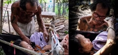 Loving husband starves himself to give enough food to bedridden wife who got bitten by snake