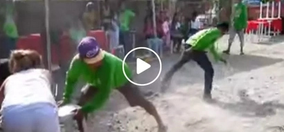 They were asked to pull each other from end to end...what happened next will surely make you laugh!