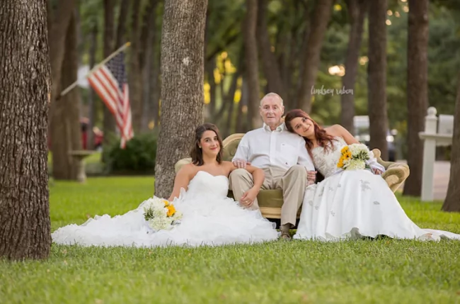 Twin sisters play pretend, enact imaginary wedding day for dad with Alzheimer's Disease