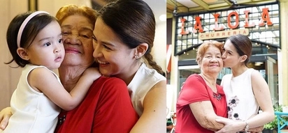 Happy birthday Nanay! Sweet Baby Zia and Marian Rivera spend time with their dearest Lola Iska