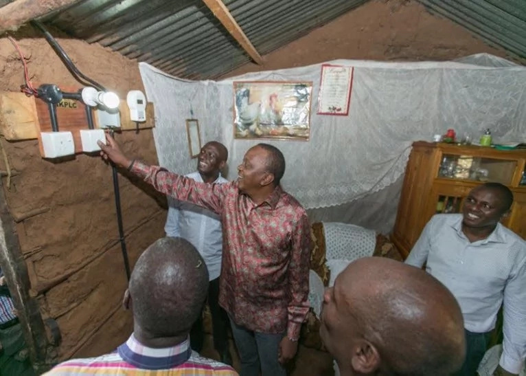 Mixed emotion after Government installs electricity in a mud house