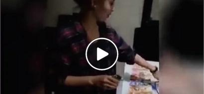 Sino Malakas? Watch daring girl drink shots for 3k pesos challenge