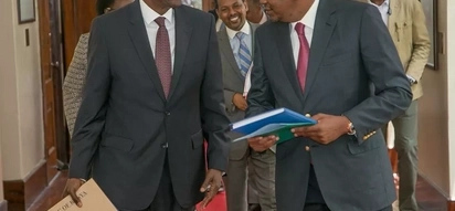 CJ Maraga meets Uhuru or the first time since contentious Supreme court ruling