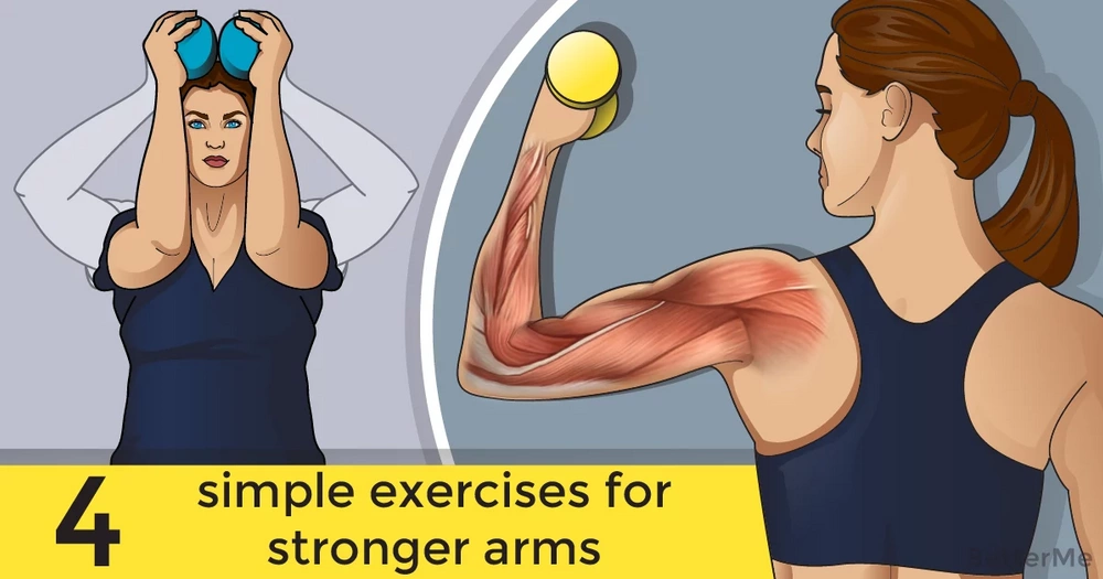 4 simple exercises for stronger arms