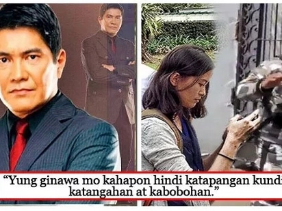 Maangas daw pero walang modo! Erwin Tulfo castigates Pia Ranada for being 'rude' to the palace guard