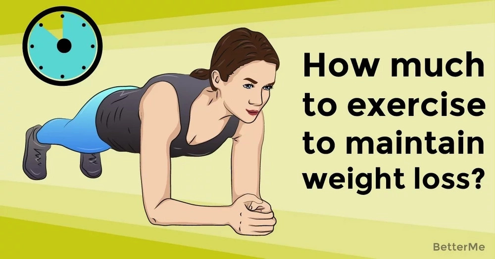 How much to exercise to maintain weight loss?