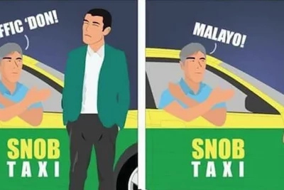 Comic hits Pinoy taxi drivers who are too snob